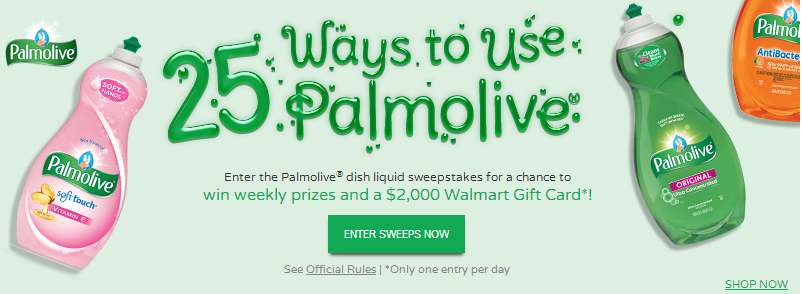 palm1 Palmolive Dish Liquid Sweepstakes   Win a $2,000 Walmart Gift Card and More!