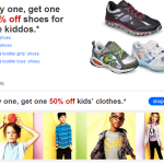 Kids clothes and shoes, shoe sale, target shoe sale, buy 1 get 1 50% off shoes, buy get 1 50% off clothes