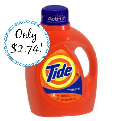 tide Tide Laundry Detergent 75oz. Only $2.74 Each at Target!