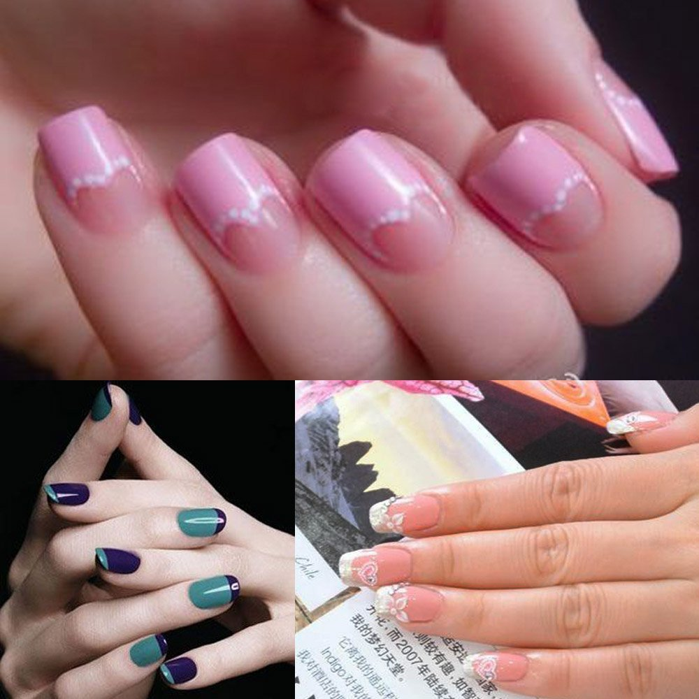 French Chevron Teardrop Nail Tip Guides Stickers Pack Of 5 Only 1 45 Free Shipping