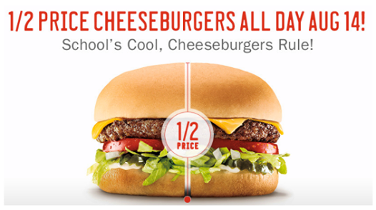 unnamed1 Half Price Cheeseburgers at Sonic, Today only!