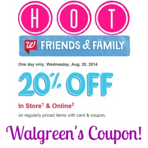 wagsq 300x300 HOT! Rare 20% Off at Walgreens Coupon!