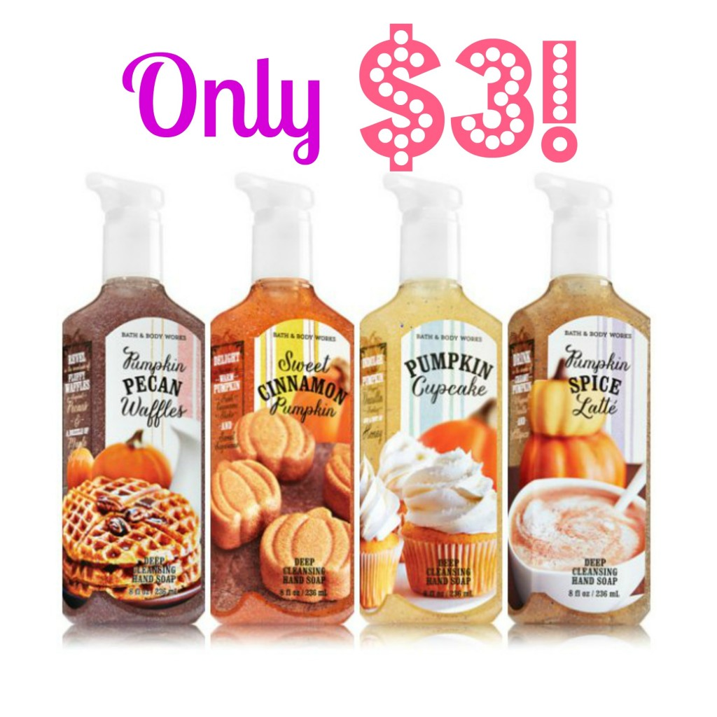 Bath body works pumpkin hand soap only 3 today only for Bathroom body works