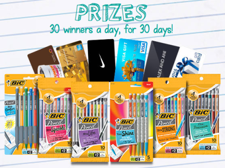 BIC Instant Win Game - 900 Win a $25 Gift Card and More, Sweepstakes, Giveaways, Instant Win Game, Contests, Prizes, Free Stuff, Freebies