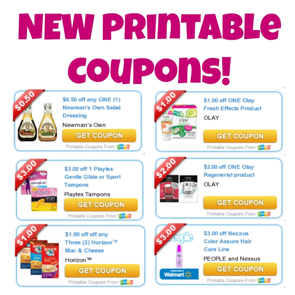 New Printable Coupons - Olay, Playtex and More, Printable Coupons, Free Coupons, Coupons for Food, Hair Care Coupons, Olay Coupons, Coupons for Tampons