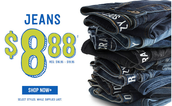 Crazy 8: Kid's Jeans Only $8.88 - Today Only, Fall Clothing, Kid's Clothing Sale, Cheap Jeans for Kids, Kid's Jeans, Kid's Fall Clothes