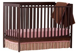 Storkcraft Sheffield II Fixed Side Convertible Crib in Espresso Only $79, Convertible Crib, Brown Crib, Wooden Crib, Crib Sale, Baby Crib Walmart