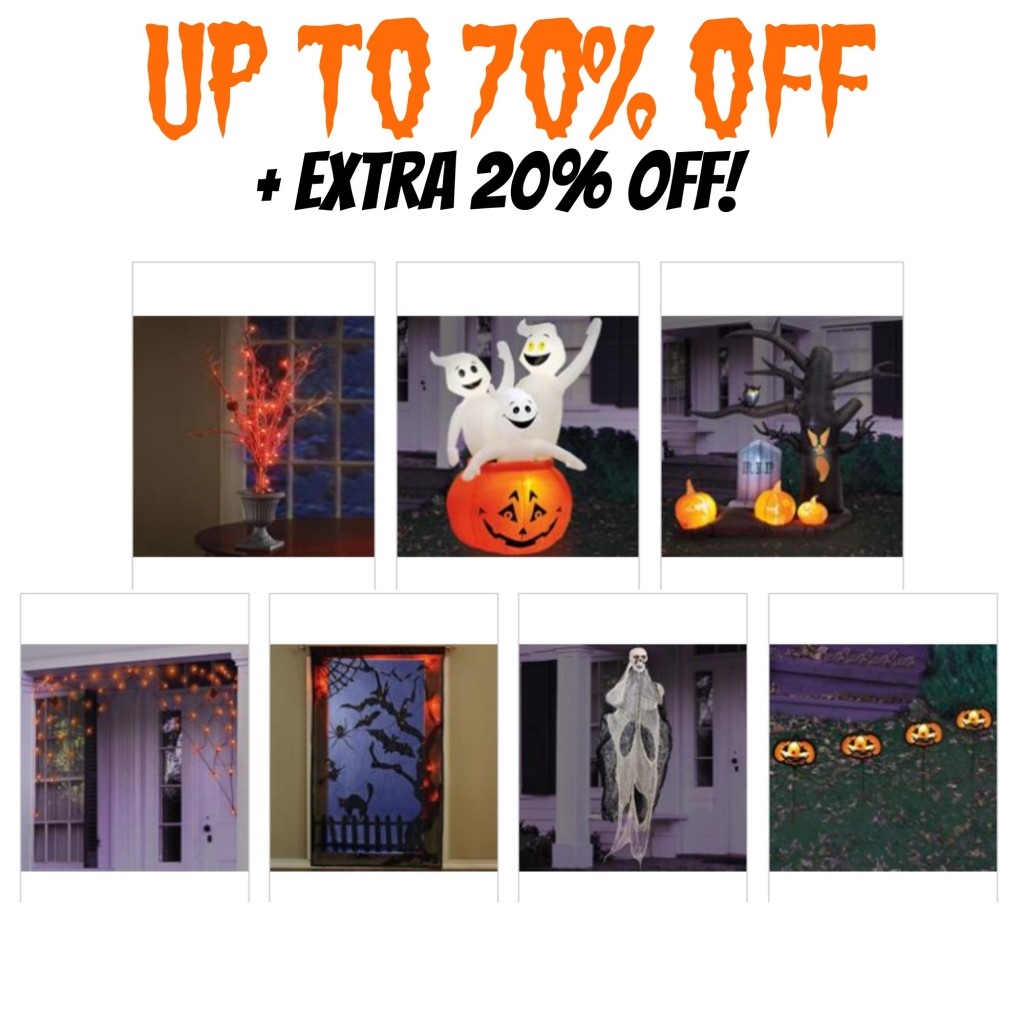 One Stop Plus: Up to 70% Off Halloween Decor + Extra 20% Off, Outdoor Halloween Decorations, Ghosts, Pumpkins, Halloween Lights, Holiday Decor