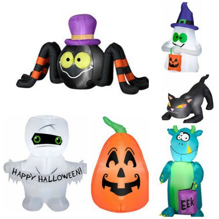 halloween inflatables collage