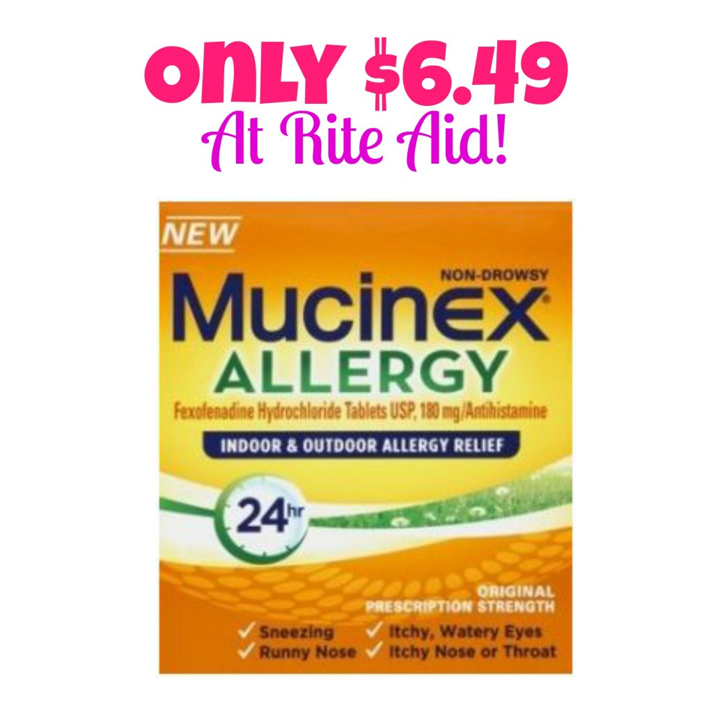Mucinex Allergy 30 ct Box Only $6.49 at Rite Aid (Reg. $26.99!) Starts 9/7, Hot Rite Aid Deals, Allergy Medicine, Mucinex Coupons