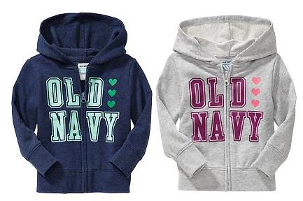 Old Navy Hoodies only $11.90 shipped!