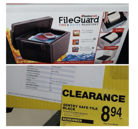 HOT! SentrySafe FileGuard Fire & Water Resistant Safe Only $8.94 (Reg. $89.99!) at Office Depot, Clearance Finds, Clearance Deals, Office Depot Clearance