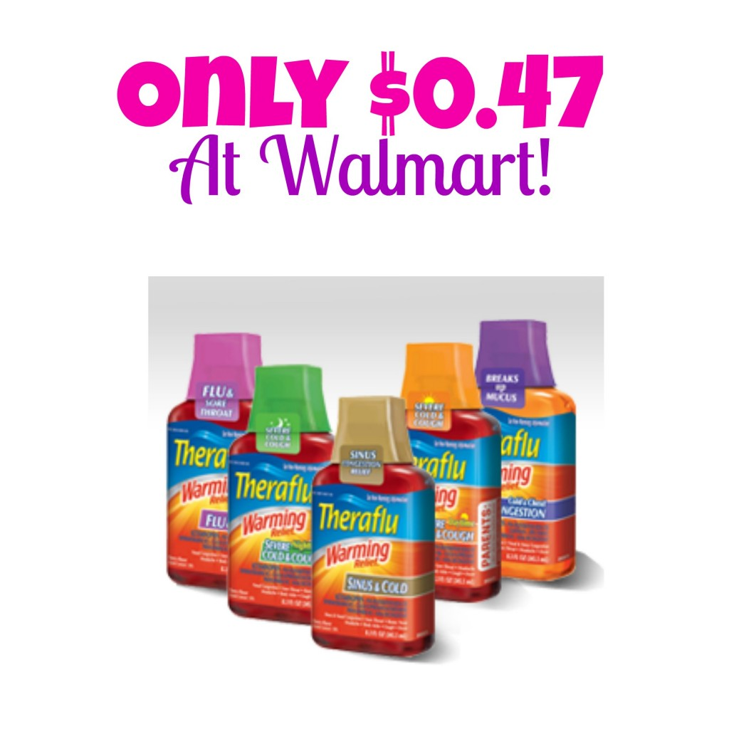 HOT! Theraflu Only $0.47 at Walmart, Stock up, Cold Medicine, Theraflu Coupons, Flu Medicine, Hot Walmart Deals, Coupons for Medicine