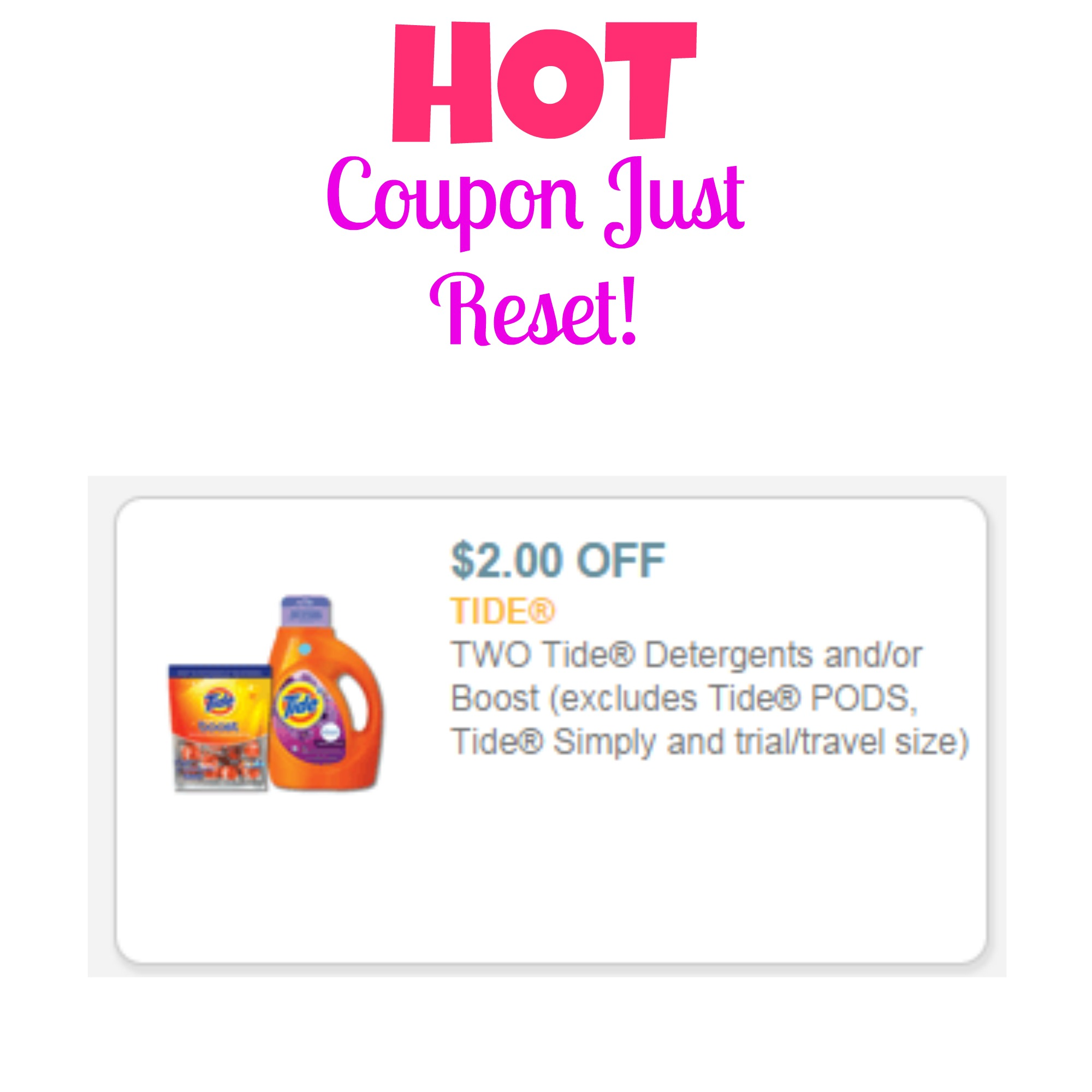 Printable laundry detergent coupons