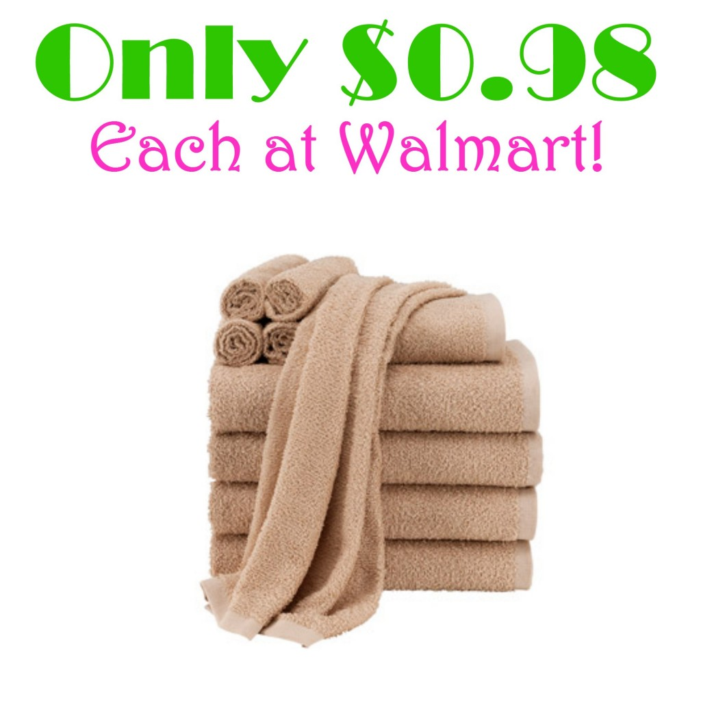 Walmart: Mainstays Value 10-Piece Towel Set as Low as $9.81 + FREE Store Pick-up, Cheap Towels, Bath Towels, Hot Walmart Deals, Stock up