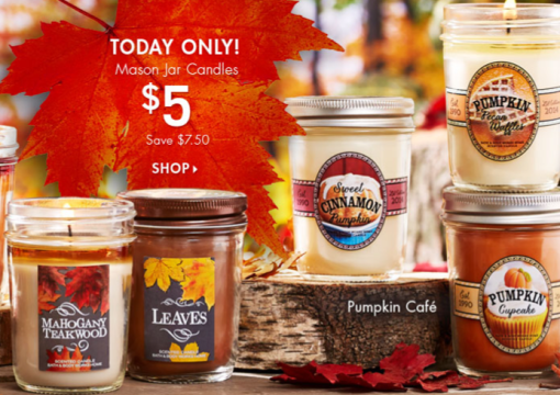 Bath & Body Works: Fall Mason Jar Candles as Low as $4.33 Shipped! TODAY ONLY, Coupon Codes, Christmas Gifts, Candles, Bath & Body Works Sale
