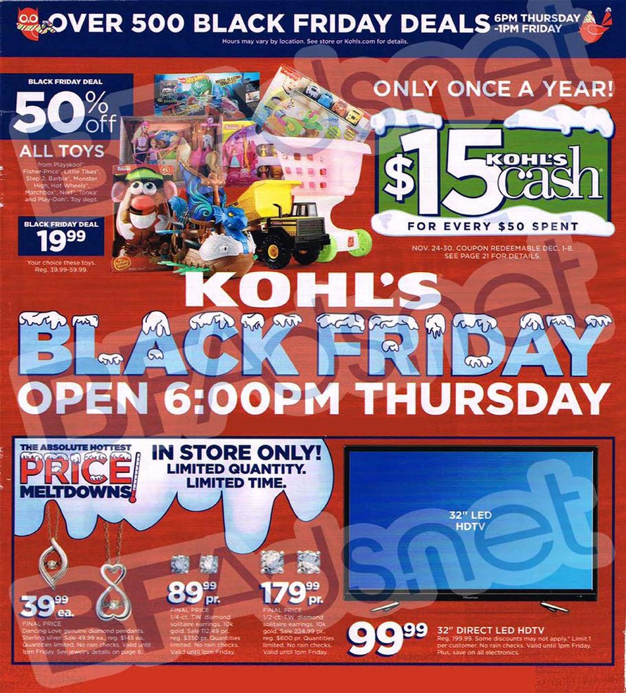 Kohls Black Friday Ad for 2014, Black Friday Ads, Black Friday Sales, Black Friday Deals, Kohl's Deals
