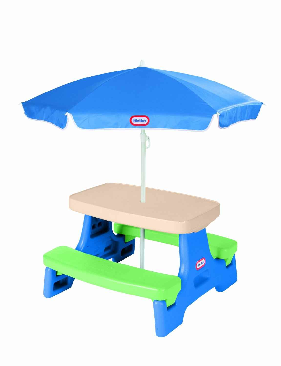 Little tikes easy store junior table with umbrella only for Table umbrella