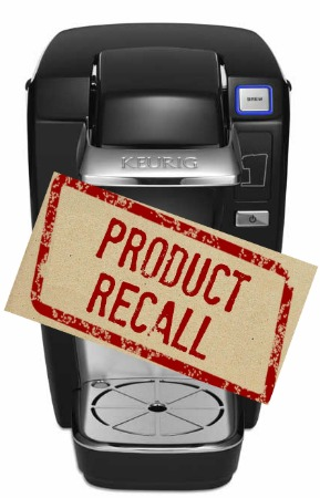 Recall Alert Keurig Mini Plus Brewing Systems