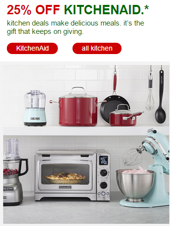 Target 25 Off Kitchenaid Appliances Free Shipping On All Orders
