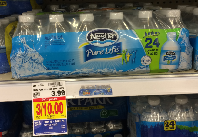95905cb29d Nestle Pure Life Bottled Water Only 8¢ Per Case at Kroger ...