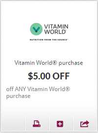 photograph about Vitamin Shoppe Printable Coupon identified as Vitamin world wide printable coupon - Costume barn code