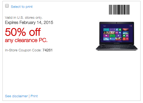Staples computer coupons