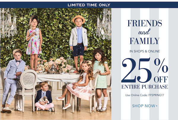 photo relating to Janie and Jack Printable Coupons called Fresh new! Order 25% Off Your Total Get At Janie Jack