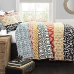 Lush Decor Bohemian Striped Quilt