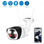 WESECUU 1080P WiFi Home Camera with Floodlight and Siren Alarm $59.99 (REG $139.99)