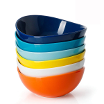 Porcelain Bowls – 18 Ounce for Cereal, Salad, Dessert – Set of 6 $20.69 (REG $30.99)
