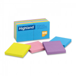 Highland Notes, 3 x 3-Inches, Assorted Bright Colors, 12-Pads/Pack $6.29 (REG $12.52)