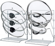 2 Pack Wall Mount Pot Lid Organizer Stand Holder Rack with Removable Drain Tray$8.77 (REG $23.99)