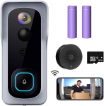 LIGHTNING DEAL!!! WiFi Video Doorbell Camera, XTU Wireless Doorbell Camera with Chime $76.49 (REG $119.99)