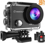 Crosstour Action Camera 4K 20MP WiFi Underwater 40M with Remote Control $49.99 (REG $129.99)