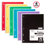 Mead Spiral Notebooks, 1 Subject, Wide Ruled Paper, 70 Sheets $9.81 (REG $19.99)