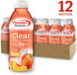 LIMITED TIME DEAL!!! Premier Protein Premier Clear Protein Drink Peach$15.39(REG $21.99)