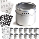 2 Magnetic Spice Tins & 2 Types of Spice Labels