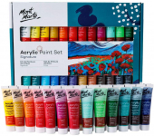 Mont Marte Acrylic Paint Set 24 Colours 36ml $21.99 (REG $59.95)