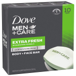 Dove Men+Care Body and Face Bar Extra Fresh 4 Ounce, 10 Count $7.13 (REG $14.99)