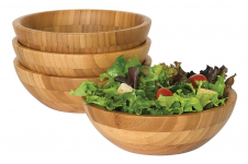 Lipper International 8203-4 Bamboo Wood Salad Bowls $25.99 (REG $69.01)