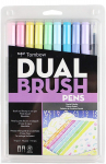 Tombow 56187 Dual Brush Pen Art Markers, Pastel, 10-Pack. Blendable $12.99 (REG $26.99)