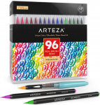 Arteza Real Brush Pens, 96 Paint Markers with Flexible Brush Tips $34.62 (REG $79.99)