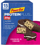 PowerBar Protein Plus Bar, Cookies & Cream, 2.15 Ounce (Pack of 15) $16.15 (REG $26.84)