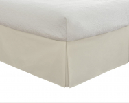 "Lux Hotel Bedding Tailored Bed Skirt, Classic 14"" Drop Length $9.99 (REG $21.99)"