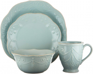 Lenox French Perle 4-Piece Place Setting, Ice Blue $30.99 (REG $86.00)