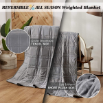 15lb Weighted Blanket(60 X 80 Inches, Twin Size), Cooling Weighted Blanket $59.99 (REG $121.99)