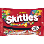 SKITTLES Original Fun Size Halloween Candy, 10.72 Ounce Bag $0.25 (REG $4.19)