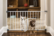 MINI Expandable Extra Wide Pet Gate with Small Pet Door $19.99 (REG $39.99)