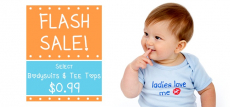 BabyMallOnline Flash Sale- 99¢ Bodysuits & Tee Tops!